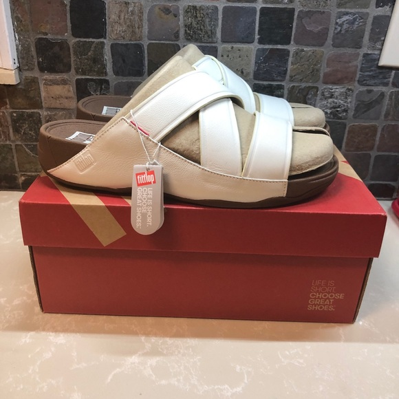 Fitflop Other - Fitflop Chi Urban White B08-194-110 Size 12